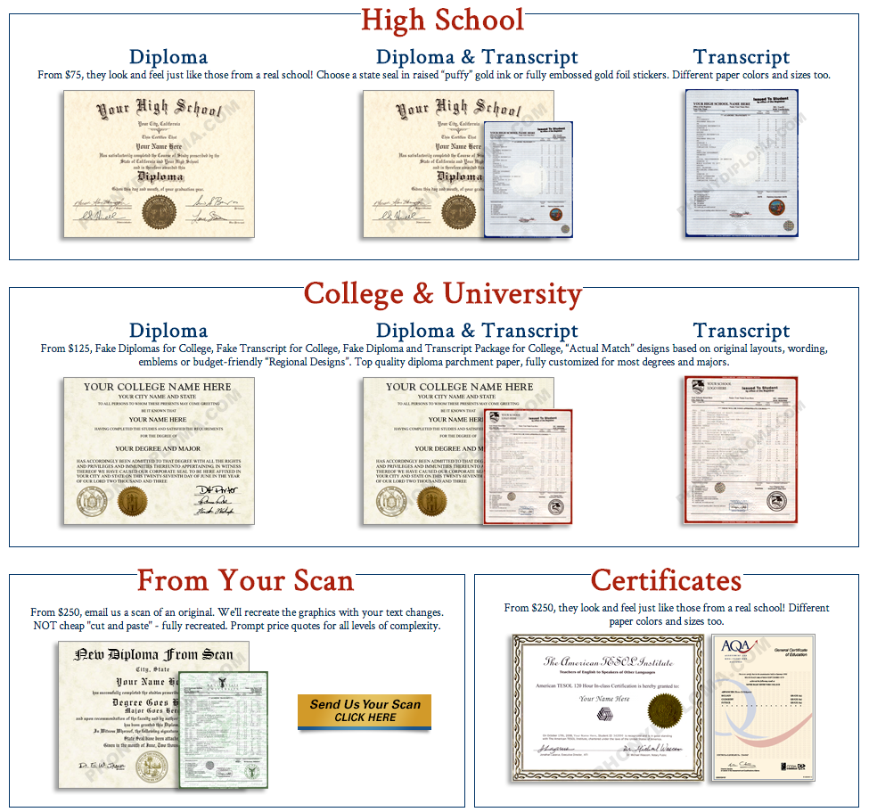 fake online degrees
