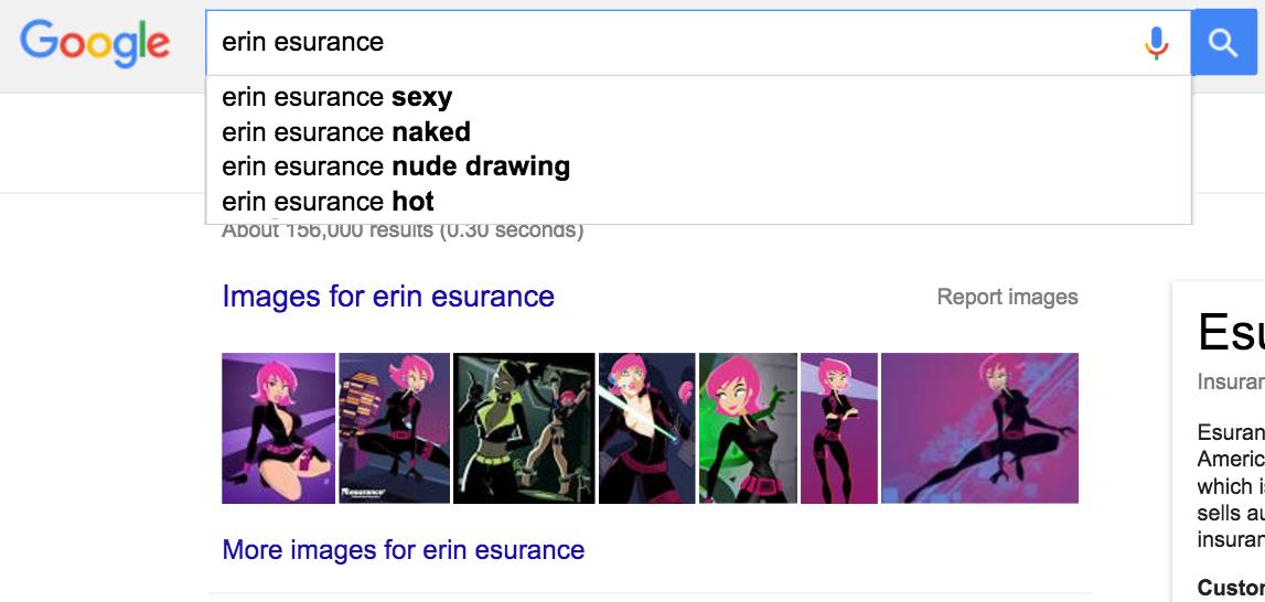 Erin esurance rule34