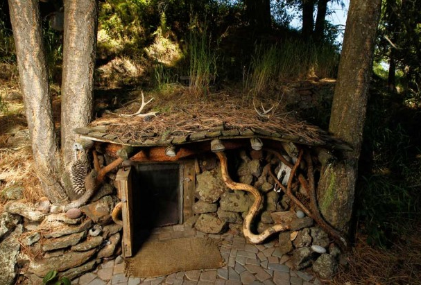 living in a real life hobbit house